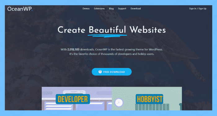 oceanwp best wordpress themes