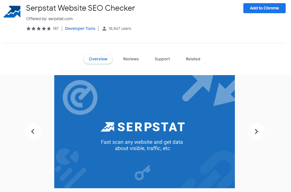 seo serp chrome extension